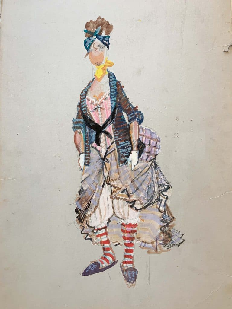flea market costume sketches