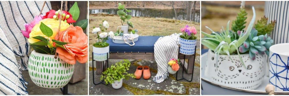 How to Plant Artificial Flowers to Look Like Real Spring Planters