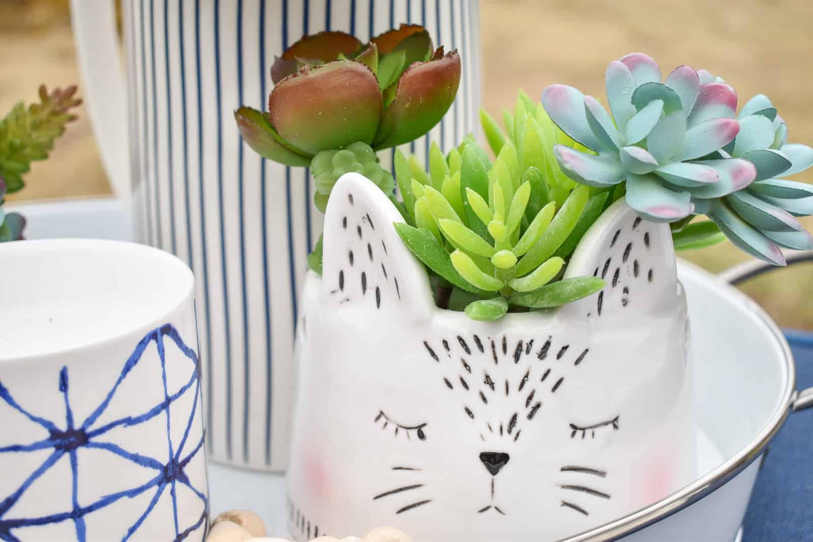artificial succulent planters