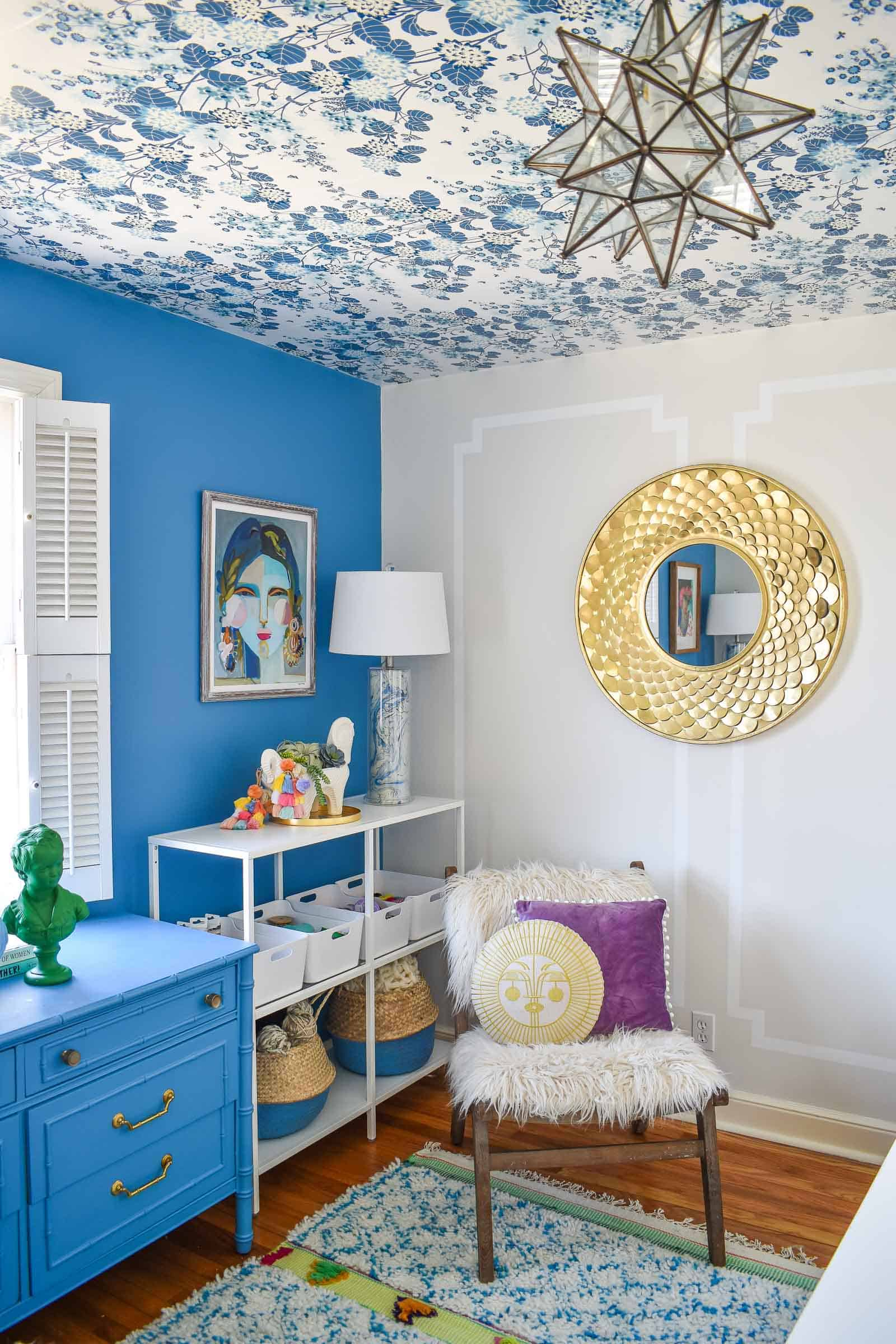 eclectic and bold office reveal