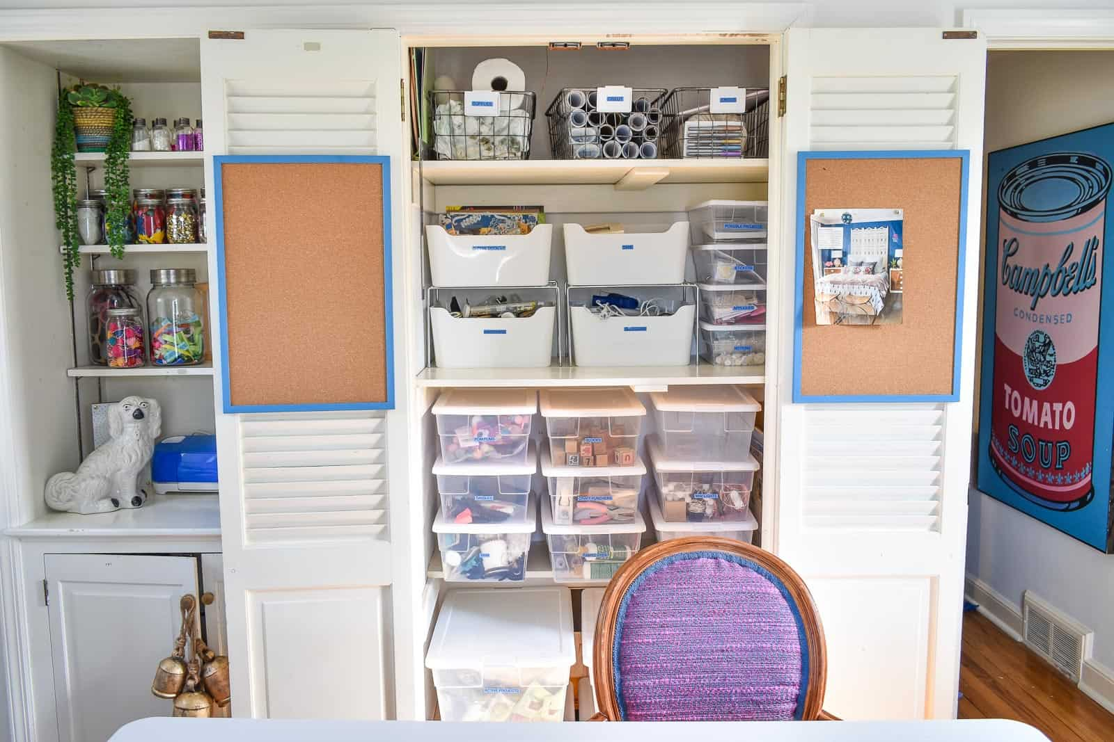 home office craft organizing