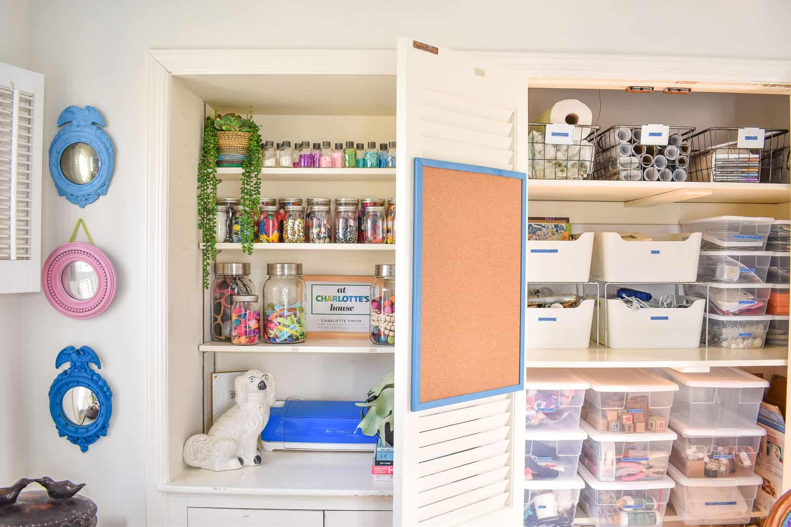 organized craft storage for office