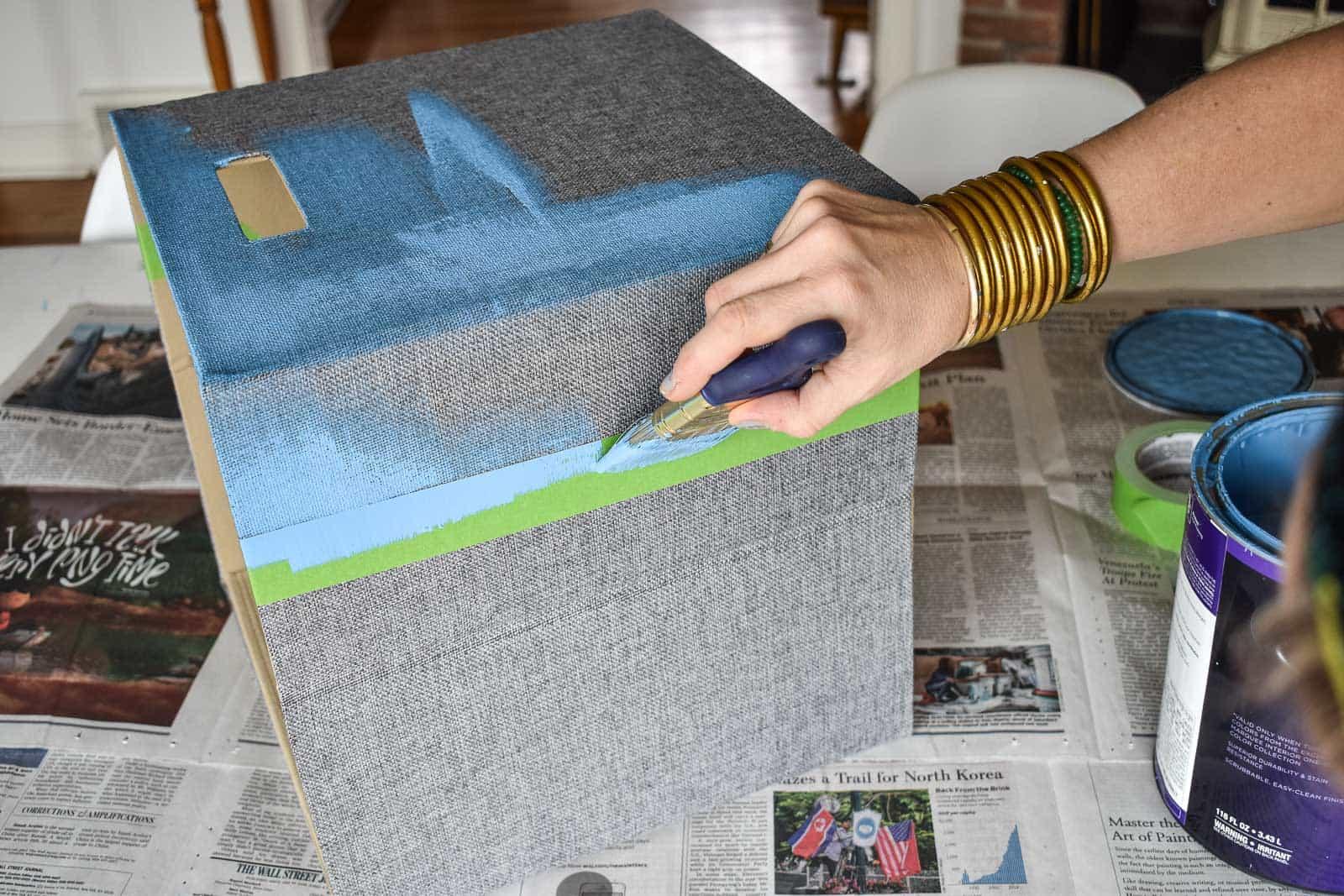 painting fabric storage baskets