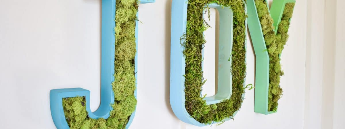 Moss Marquee Letters