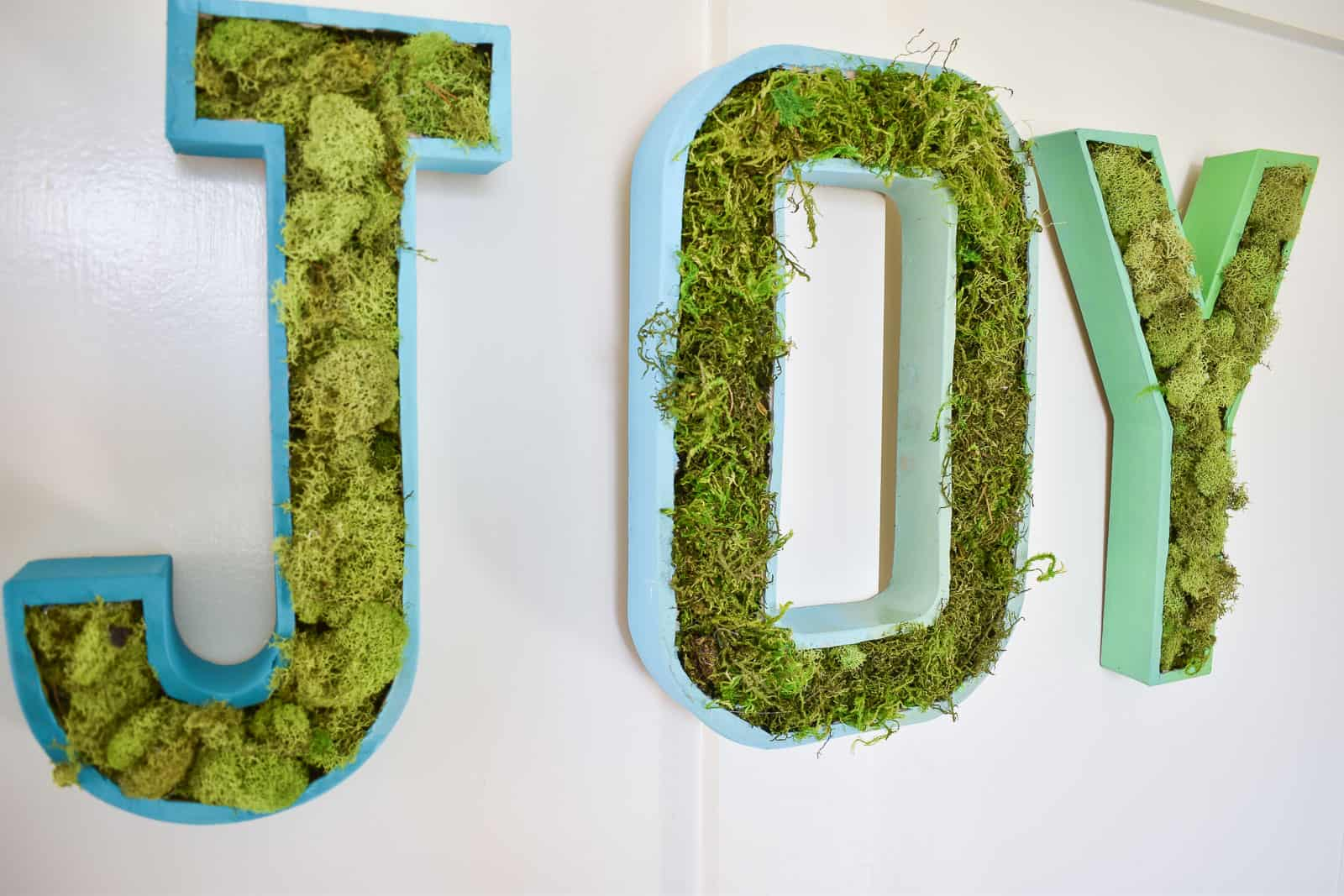 moss filled marquee letters