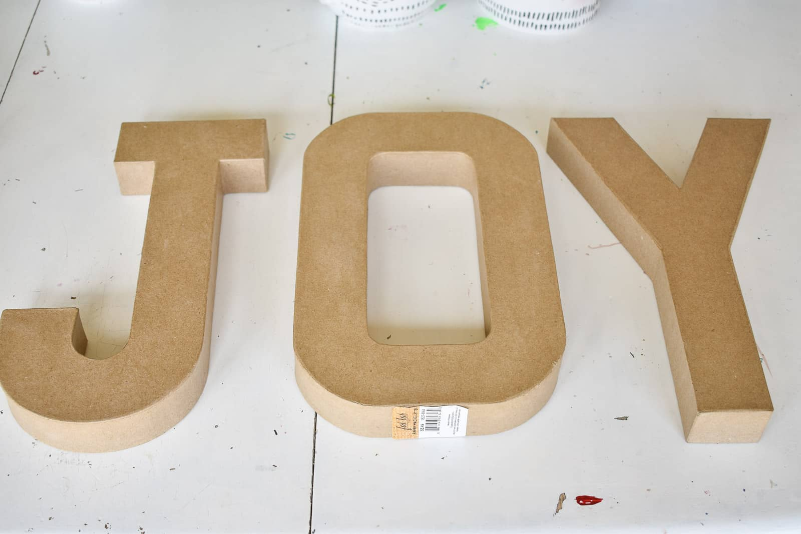 papaer mache marquee letters