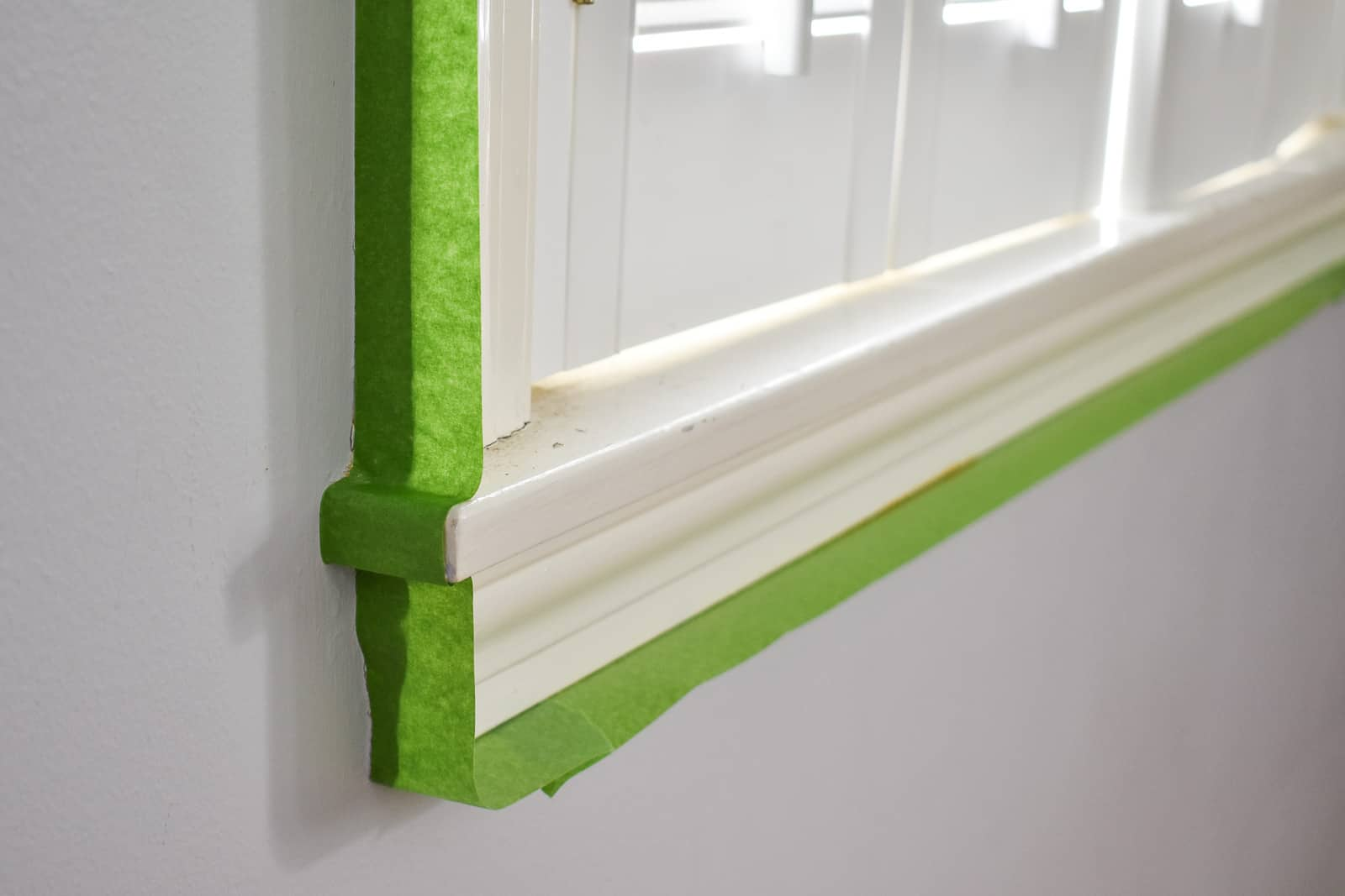 frogtape around the window frame