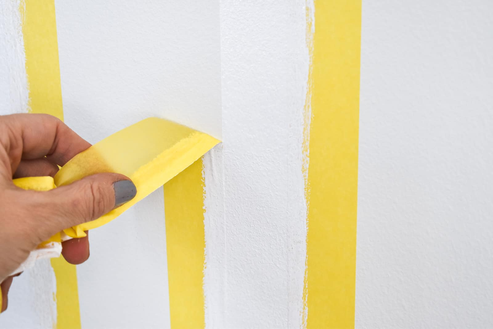 pulling back tape on faux molding