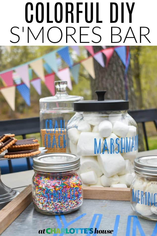 colorful outdoor s'mores party