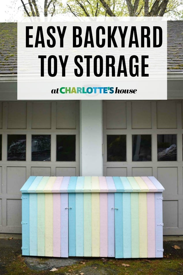 colorful backyard storage shed
