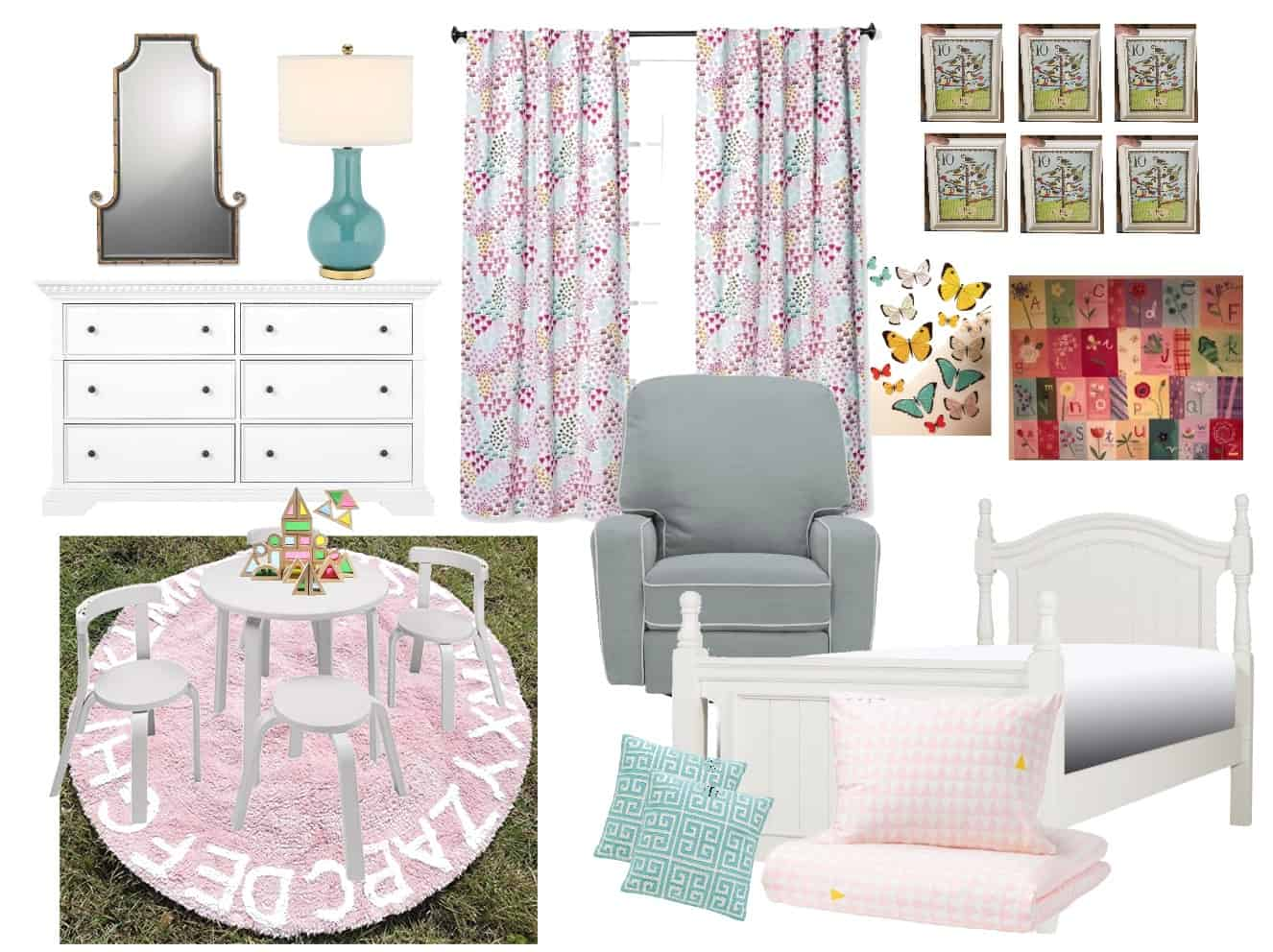 design plan for girls room