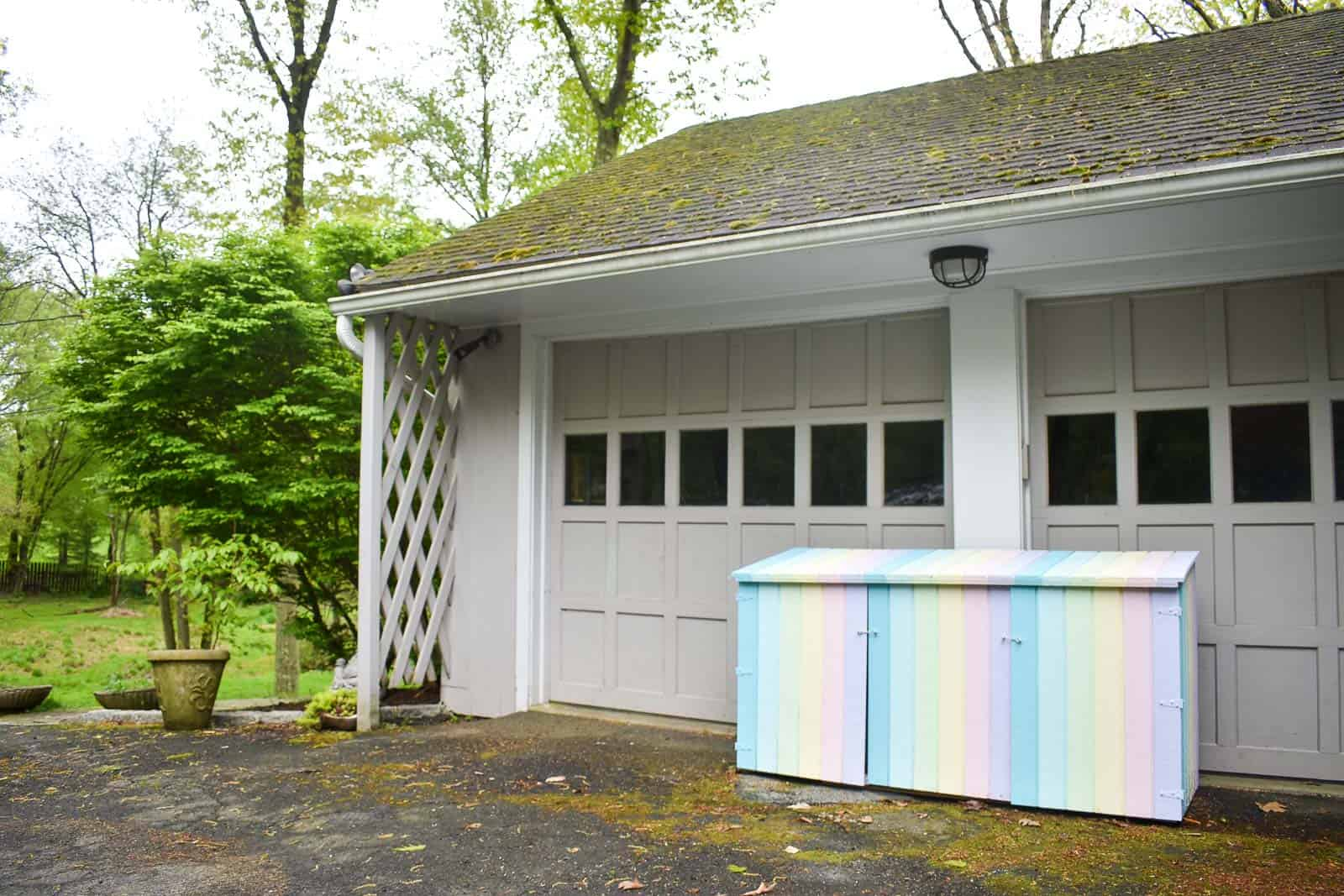Painted Outdoor Toy Shed