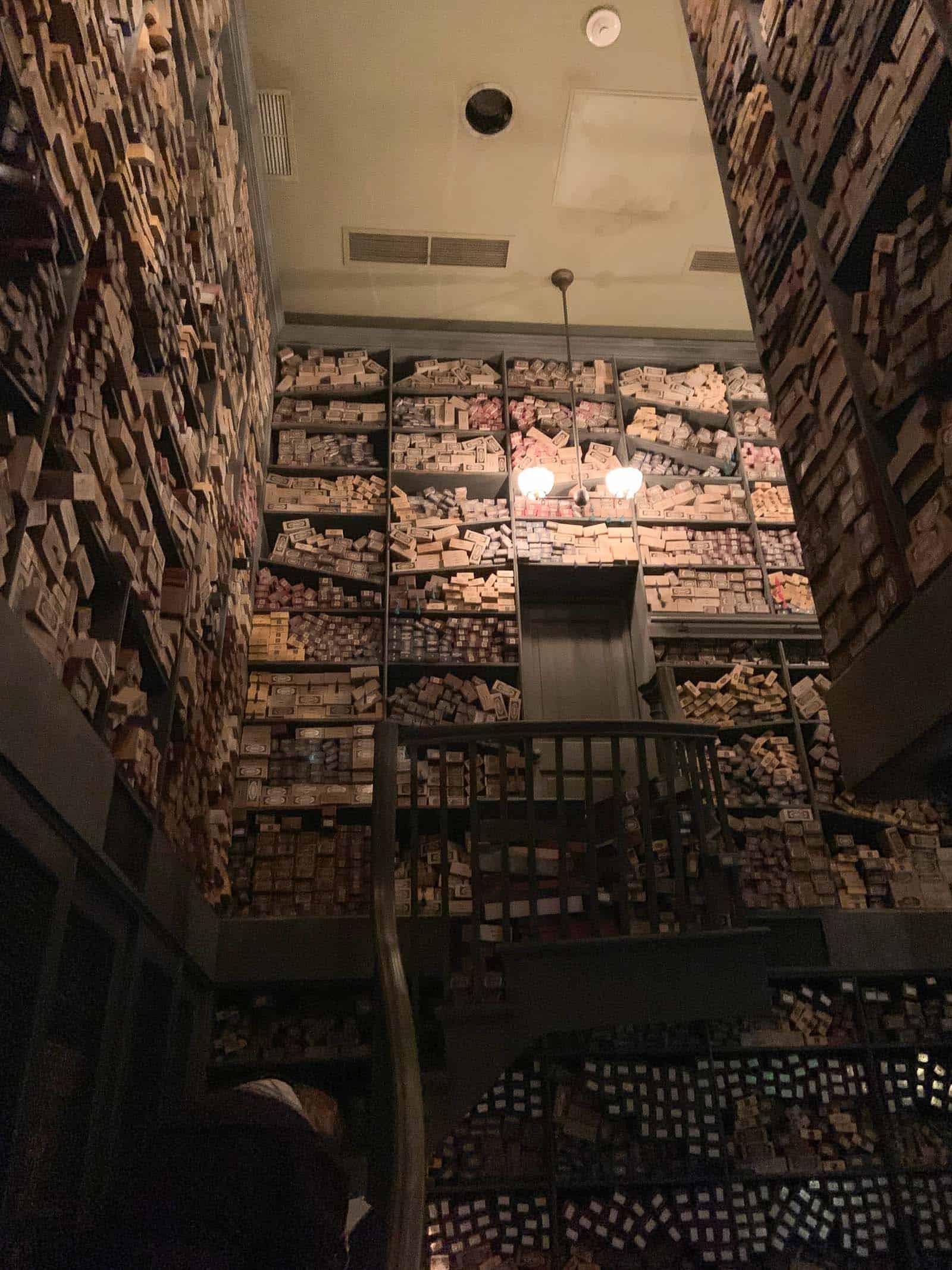 inside ollivanders wand shop
