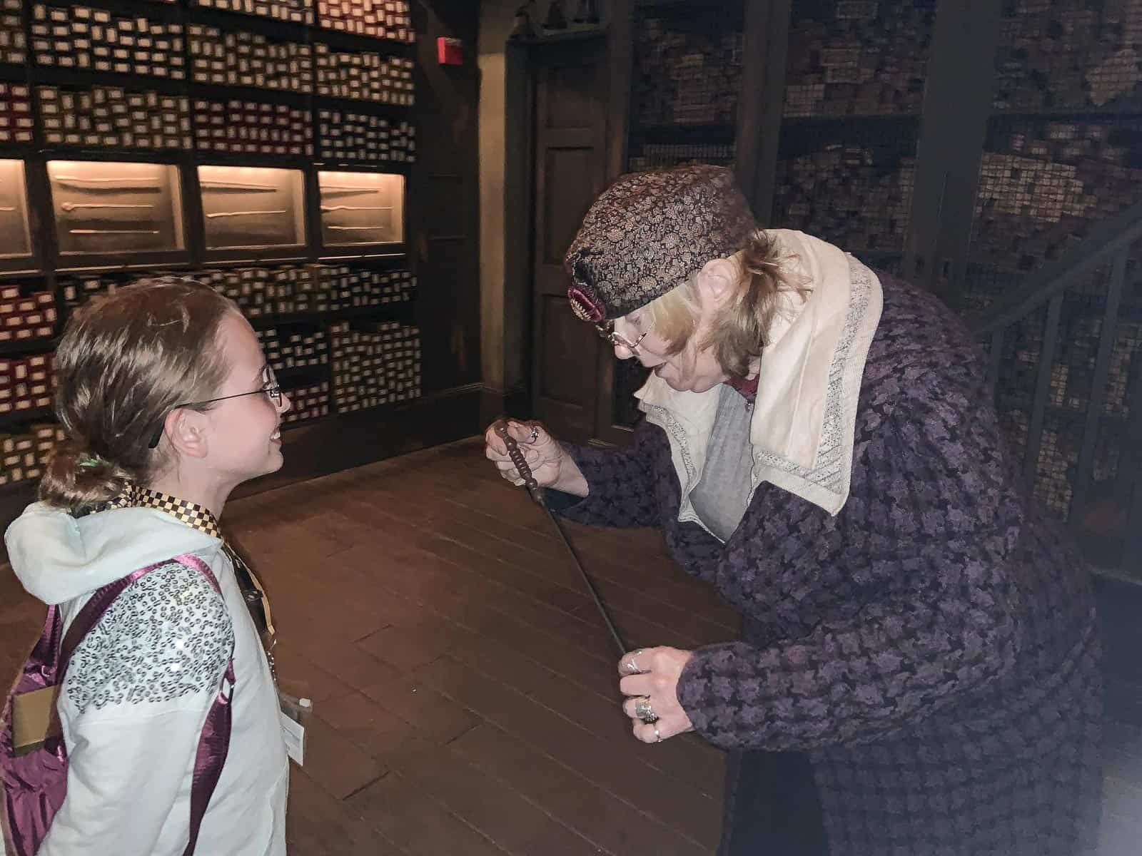 visiting ollivanders wand shop