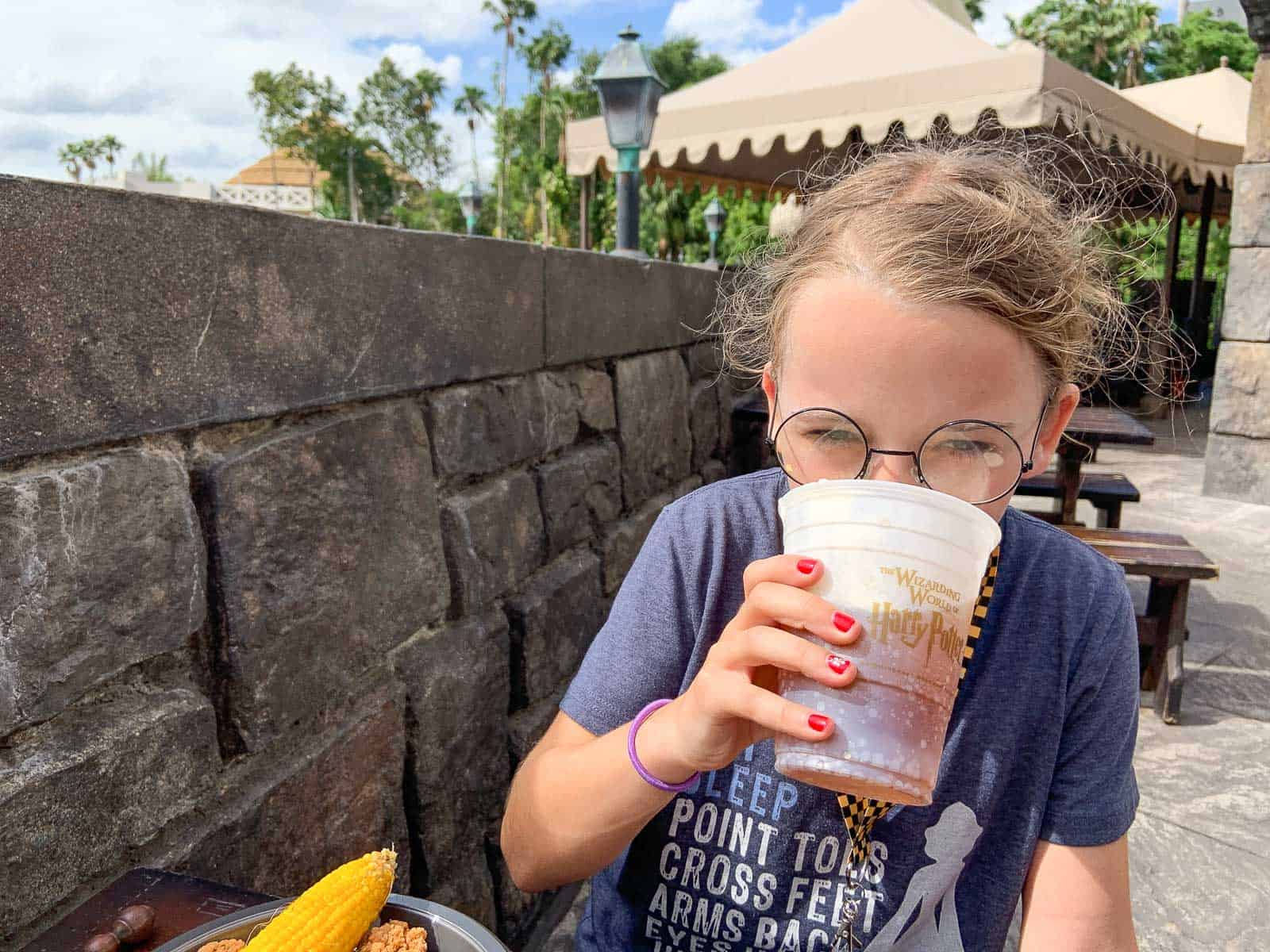 drinking butter beer