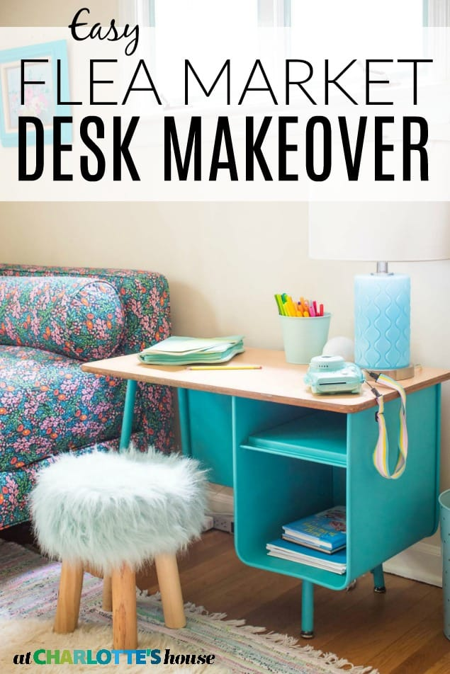 spray painted desk