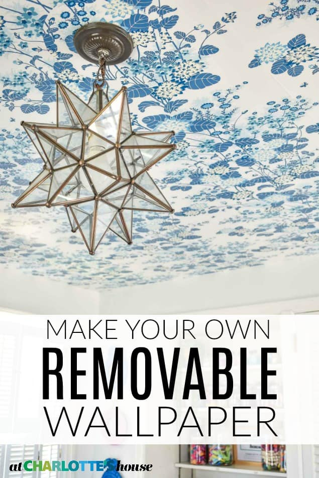 how to make removable wallpaper