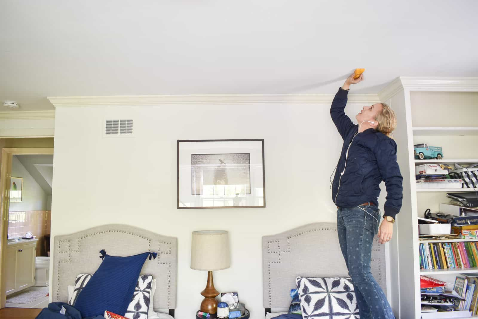 check for studs with a stud finder