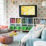 colorful photo in playroom decor