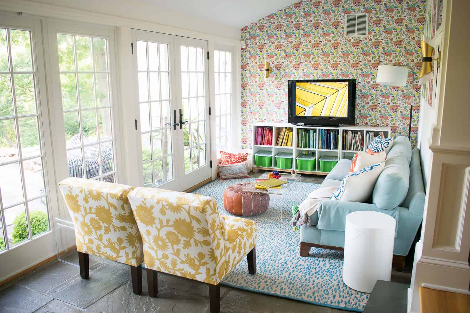 colorful playroom reveal