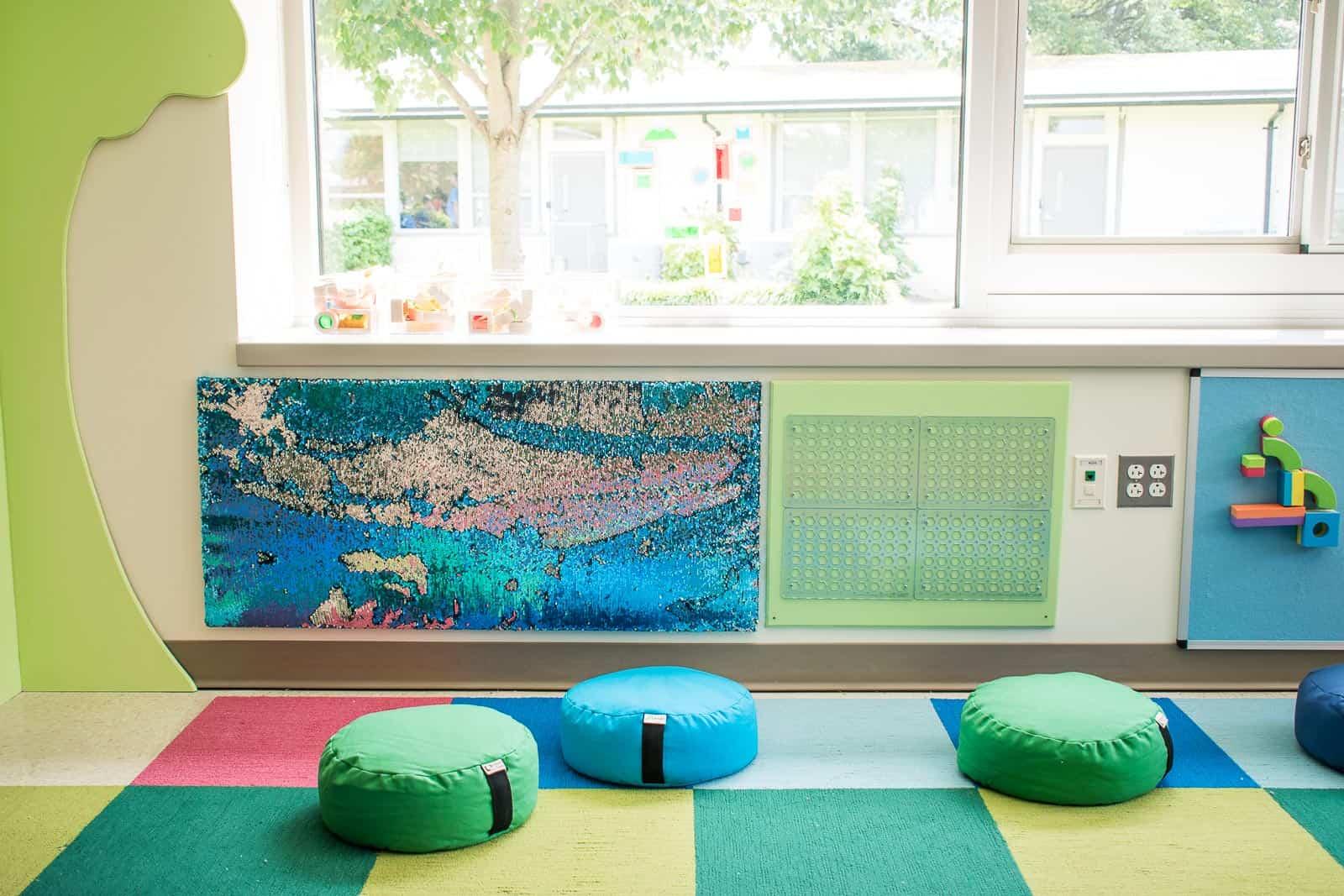 snap circuit vertical wall in school maker space