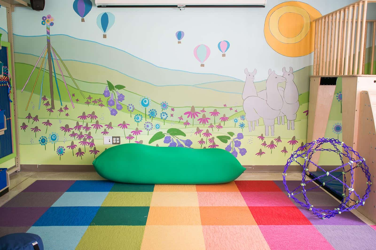 colorful classroom mural