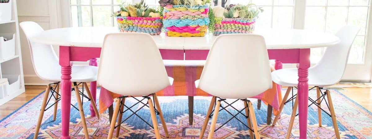 Turn Wire Baskets into a Colorful Woven Centerpiece