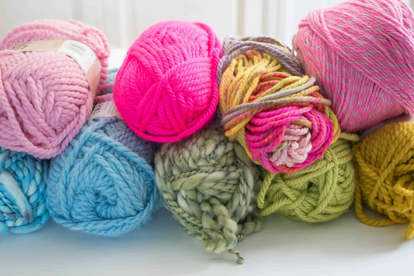 colorful yarn for fall craft