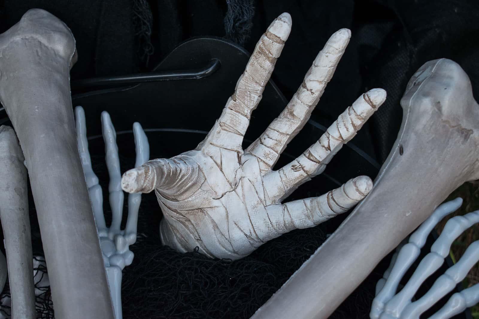 mummy hand in cauldron