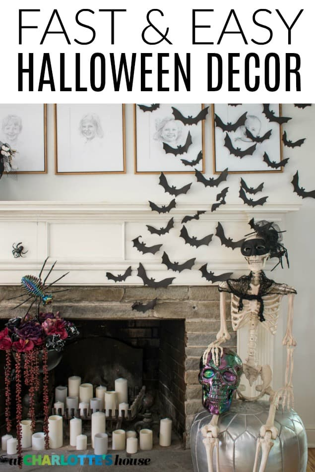 fast and easy halloween decor