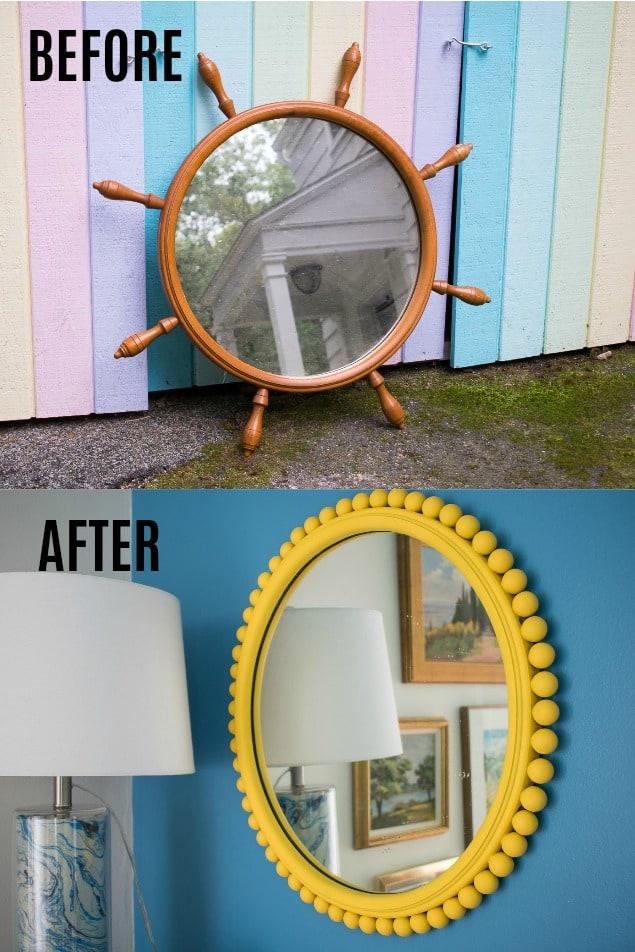 yellow flea market mirror