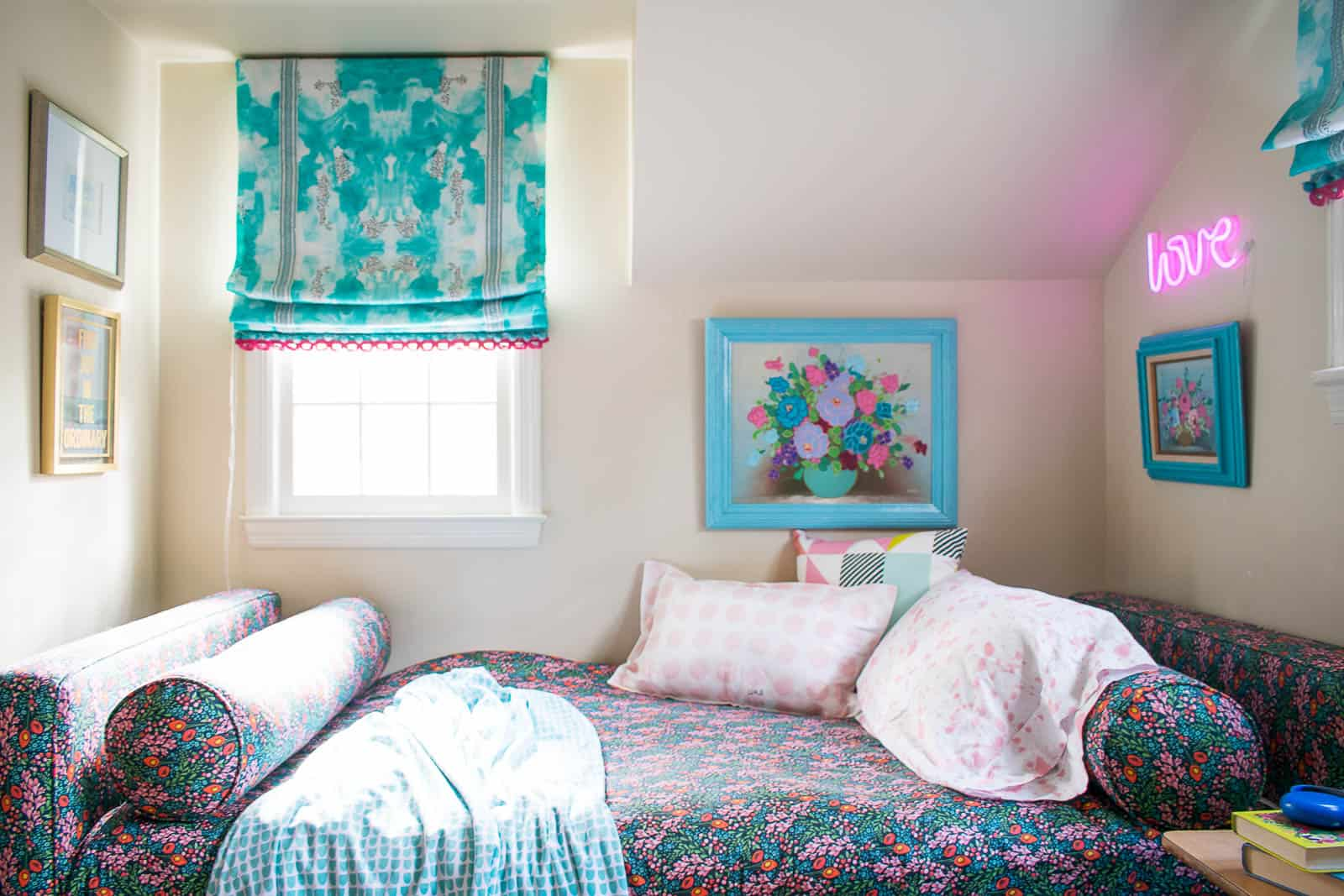 sewing roman shades for a girls room