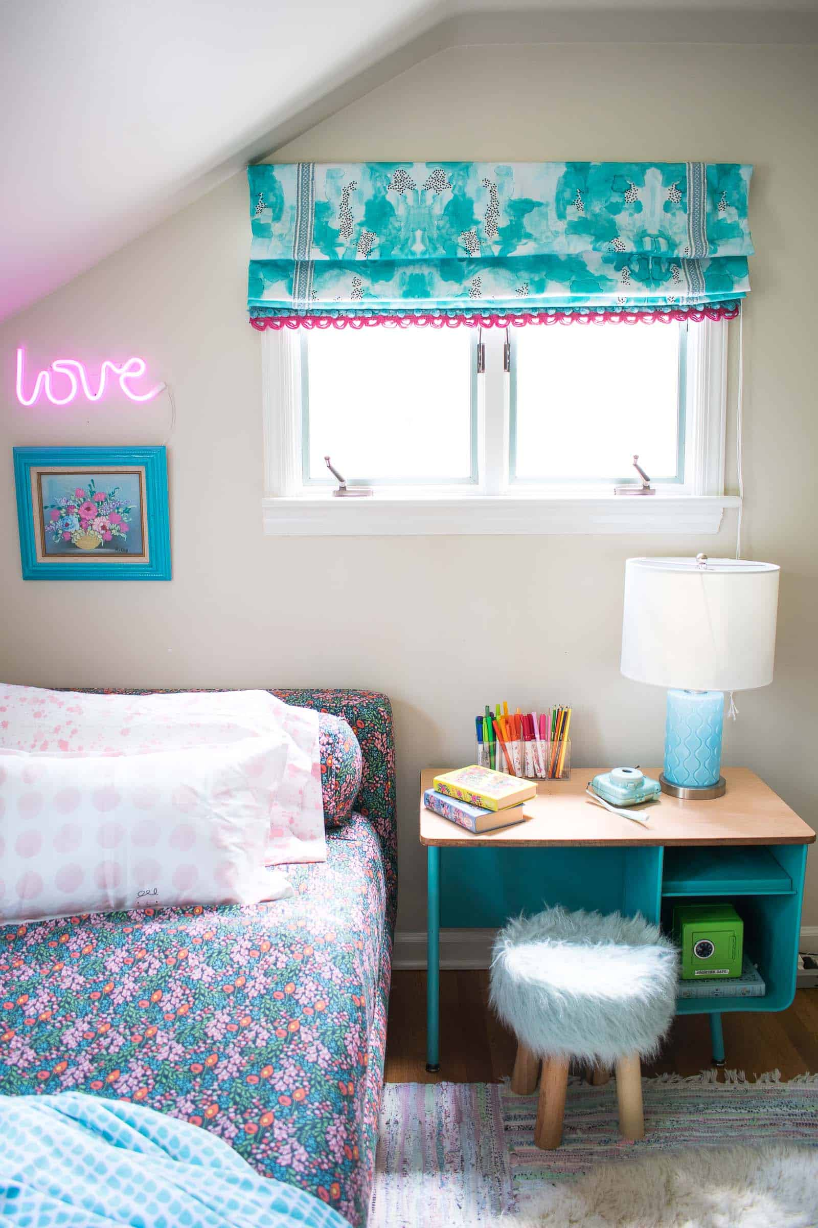 how to sew roman shades for kids room