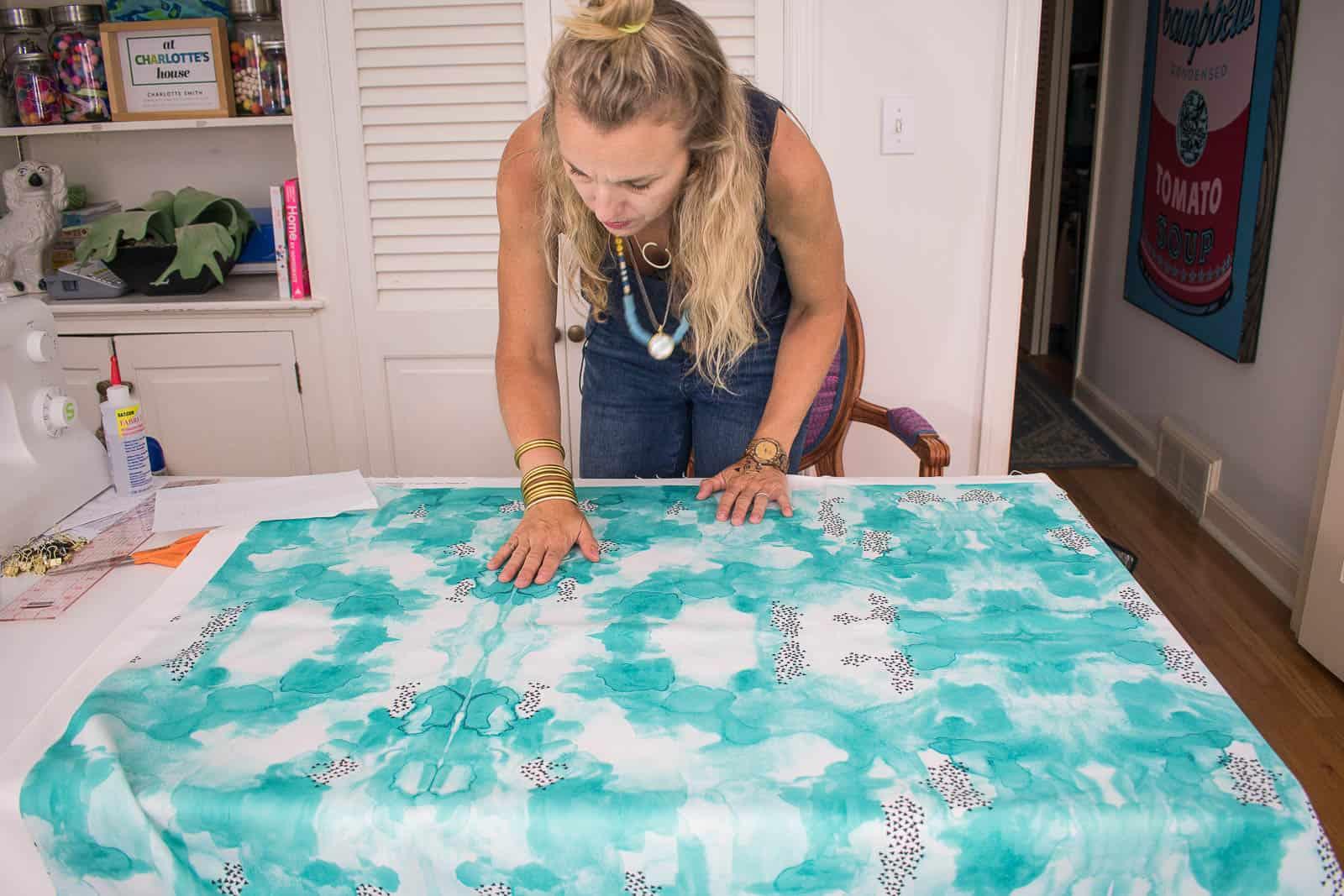 blue watercolor fabric