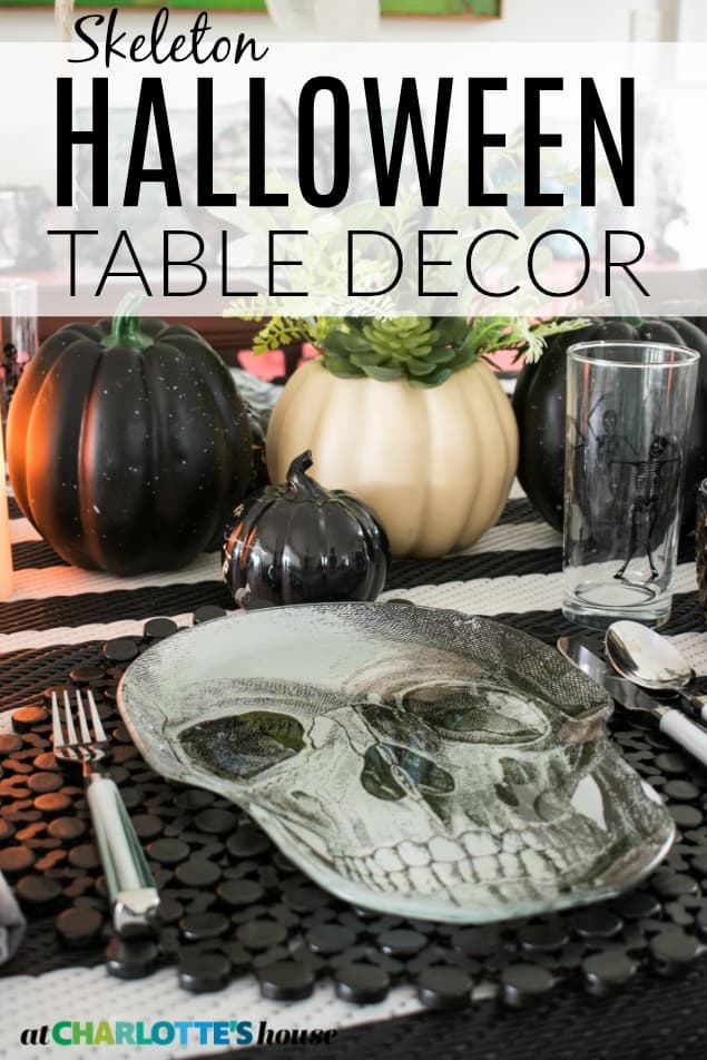halloween tablescape