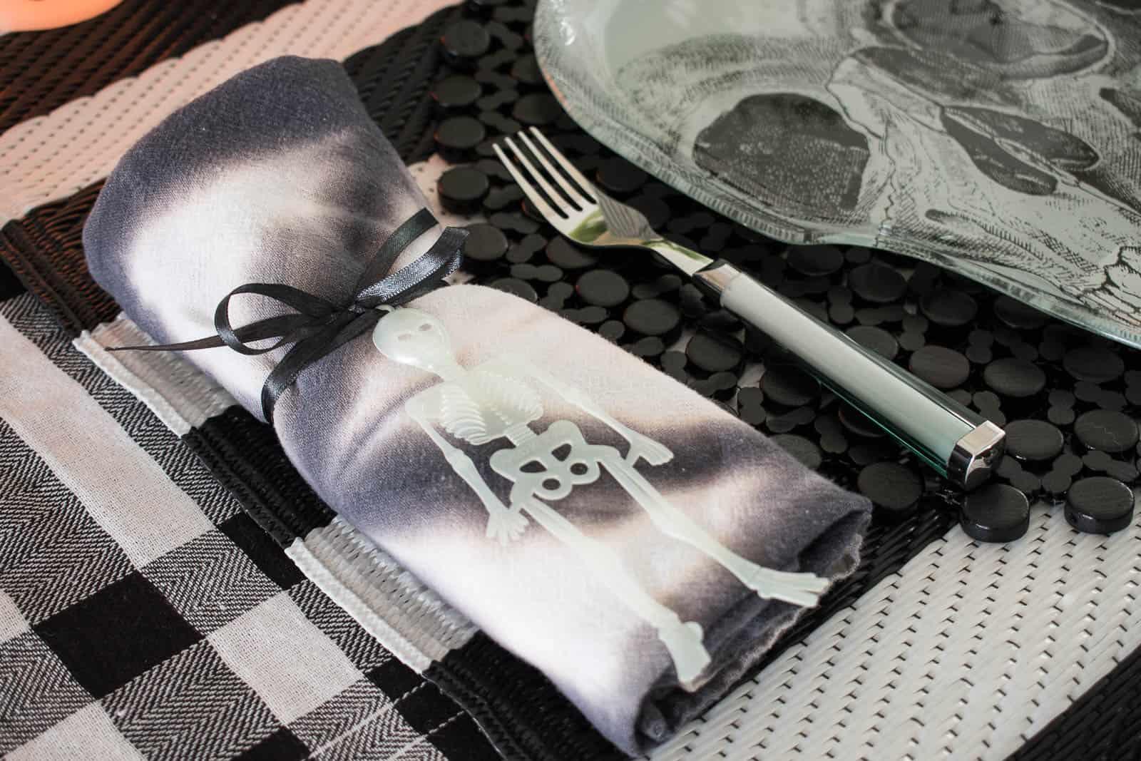 shibori dyed napkins