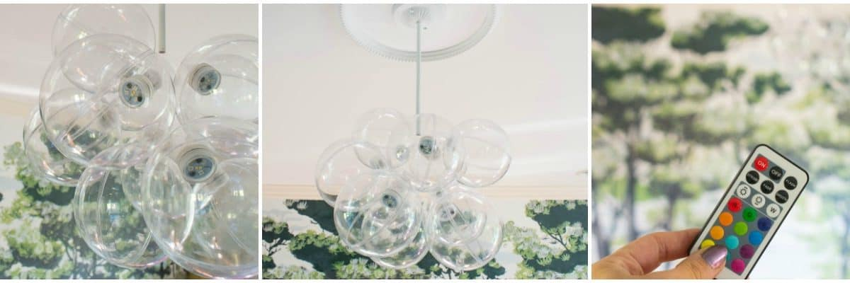 One Room Challenge Week 3: DIY Bubble Chandelier and a Bench