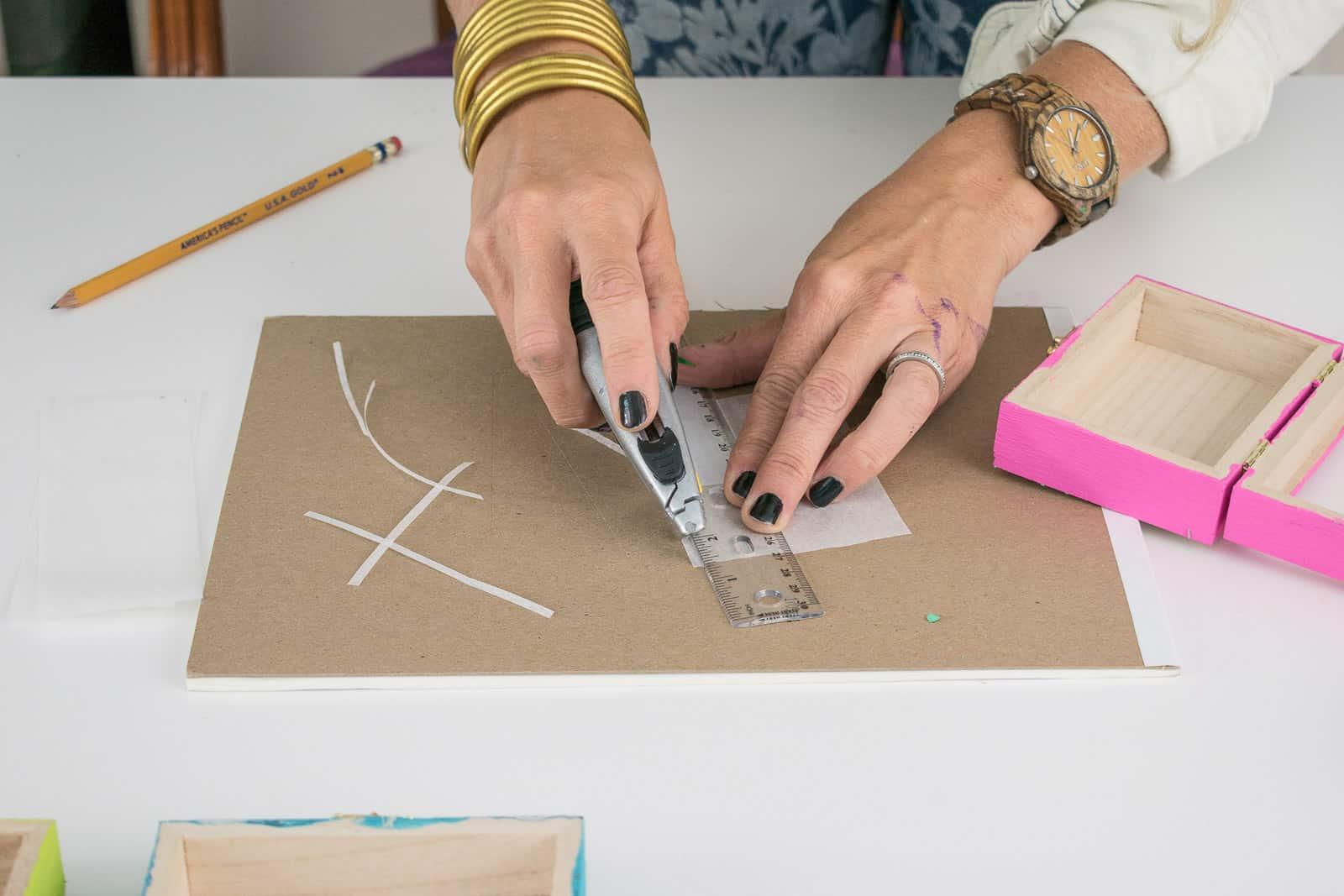cut tracing paper