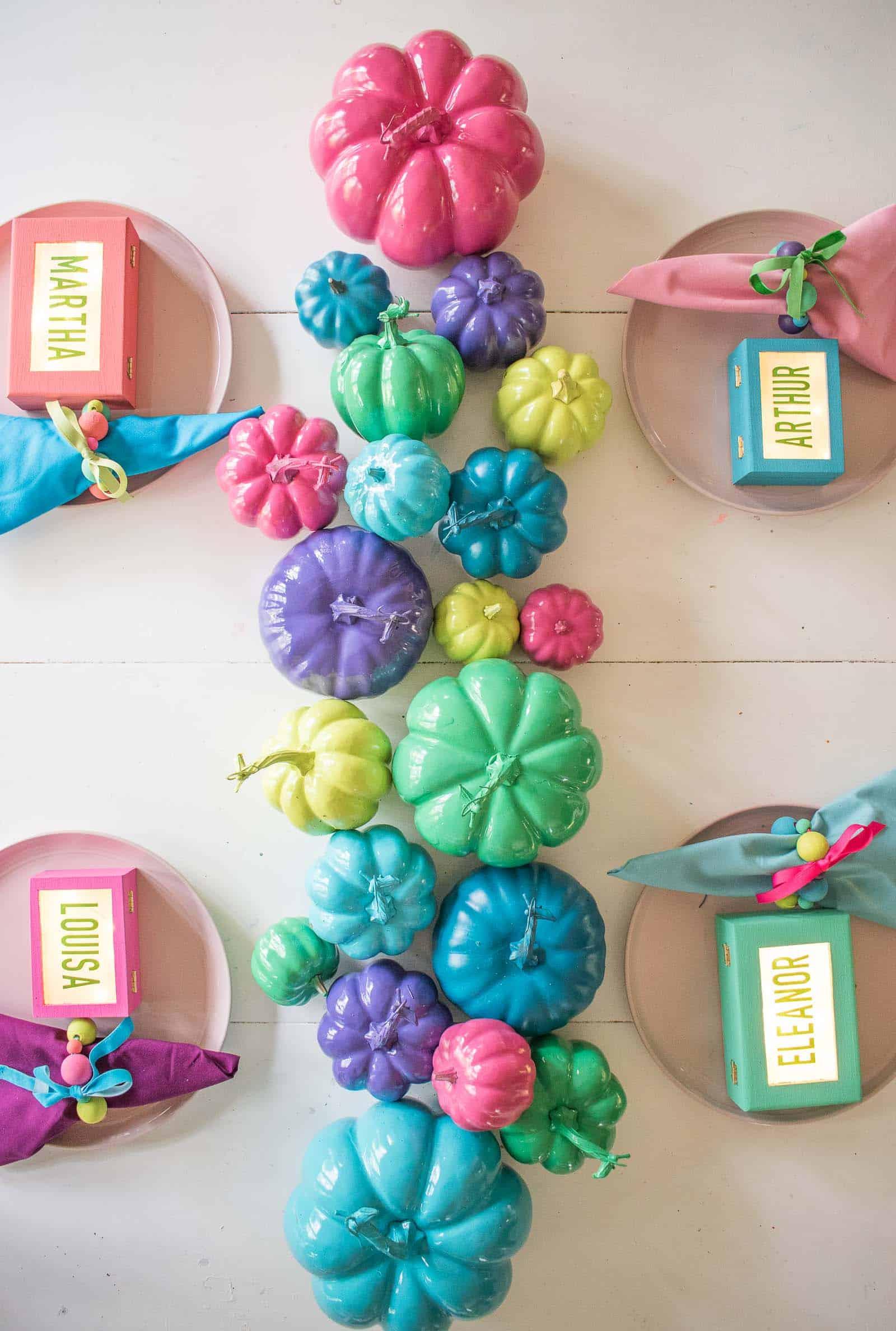 DIY colorful table decor