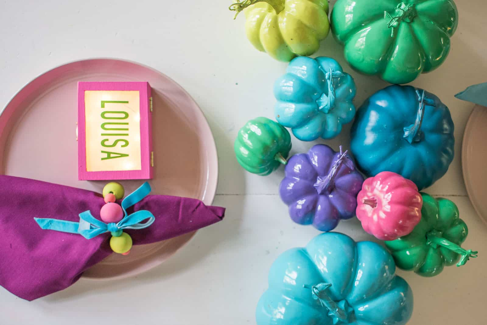 bright and colorful table decor