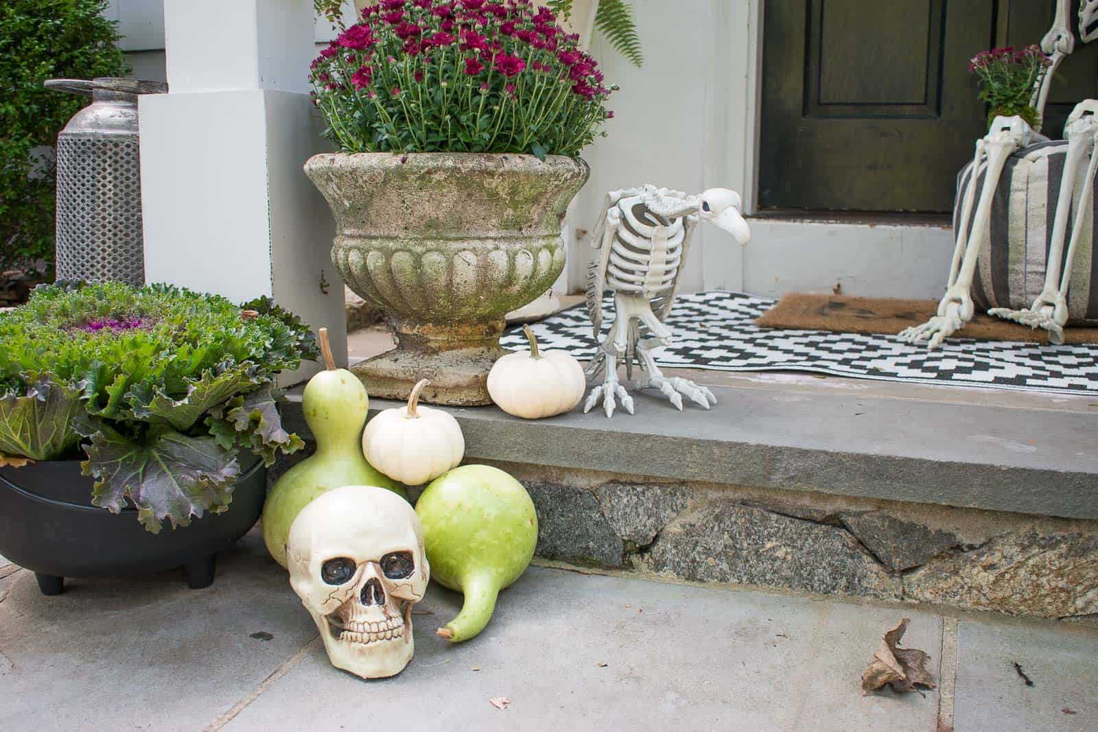 fall gourds for front porch