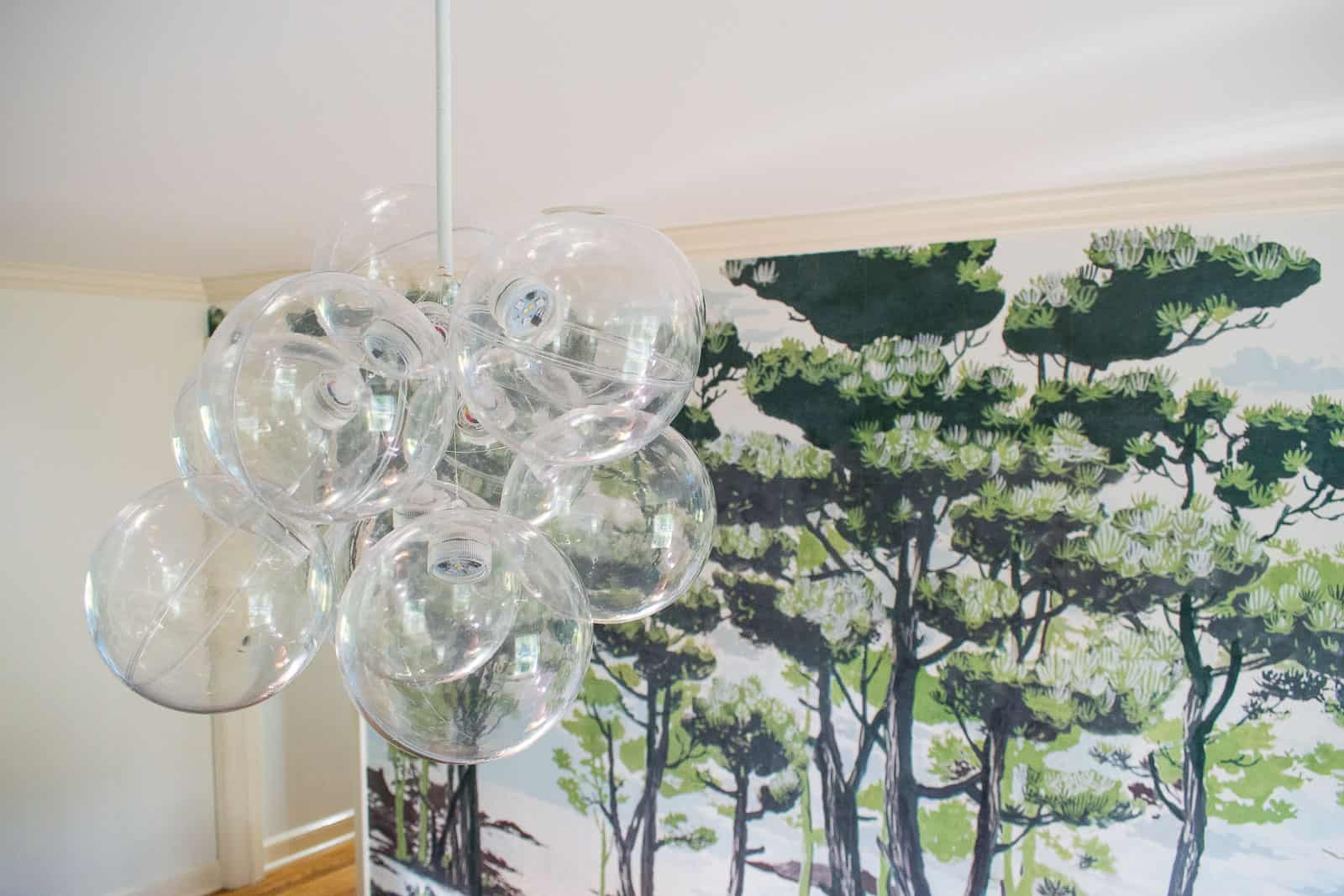 detail of 'bubble' chandelier