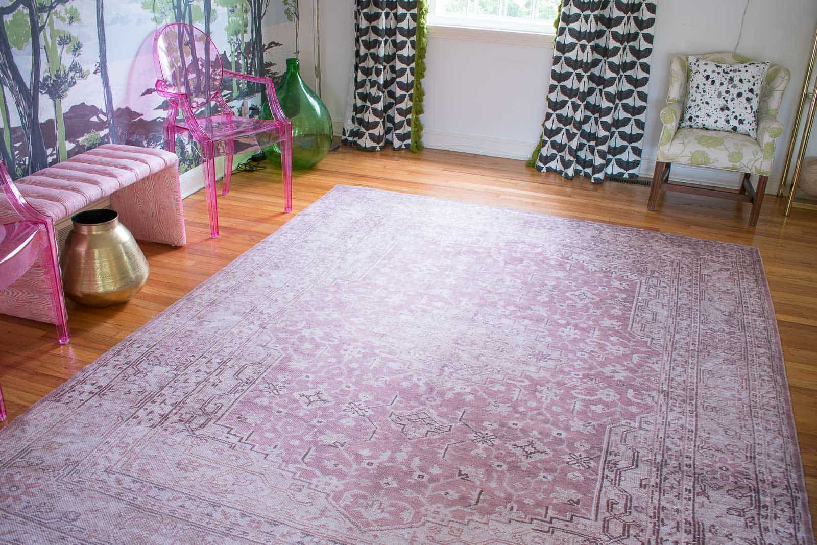magnolia rug in dining room