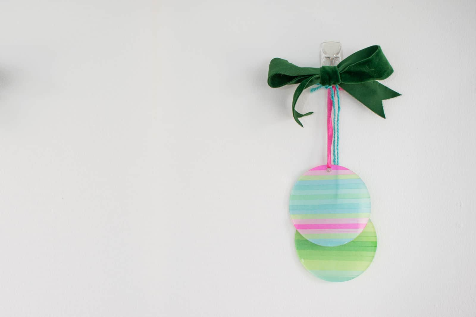 ACrylic washi tape ornament