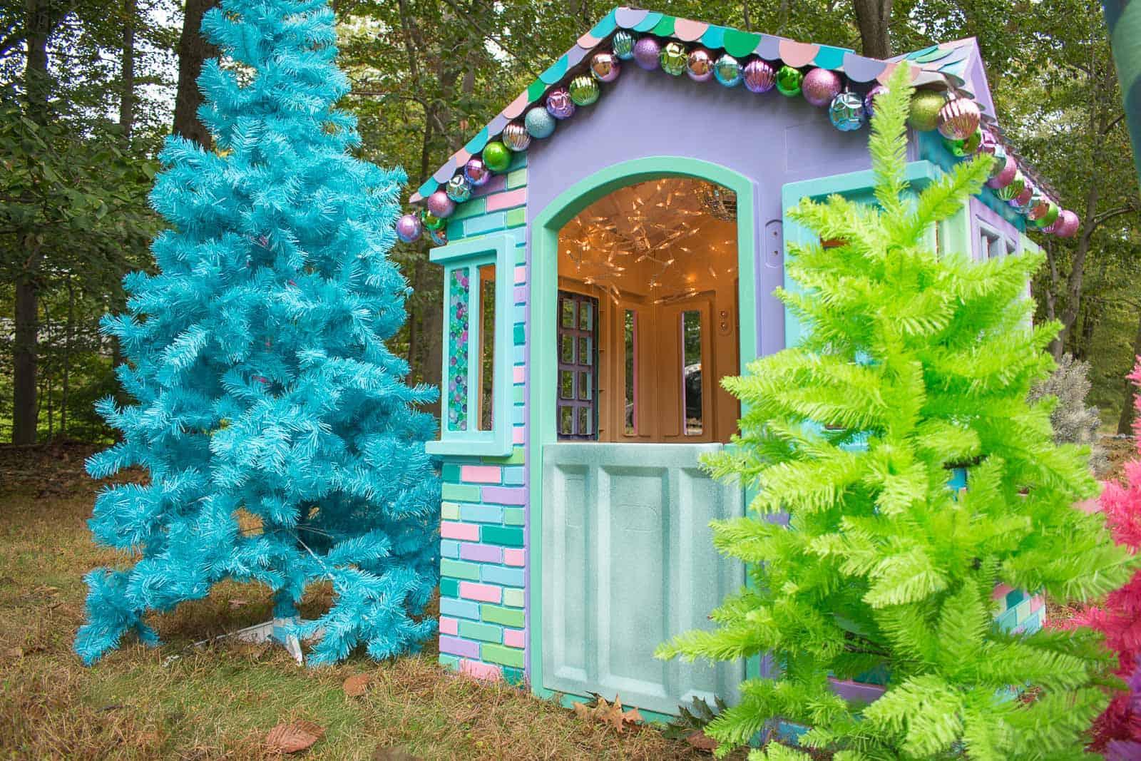 colorful christmas playhouse