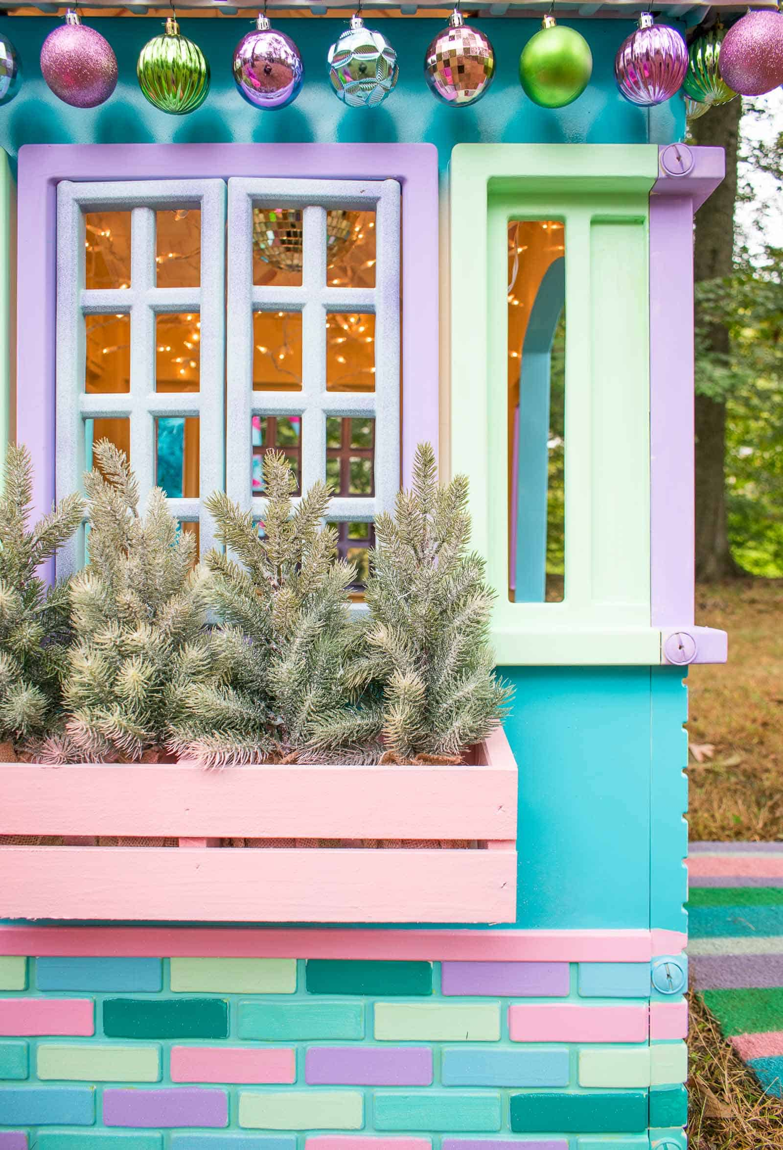 window boxes on playhouse