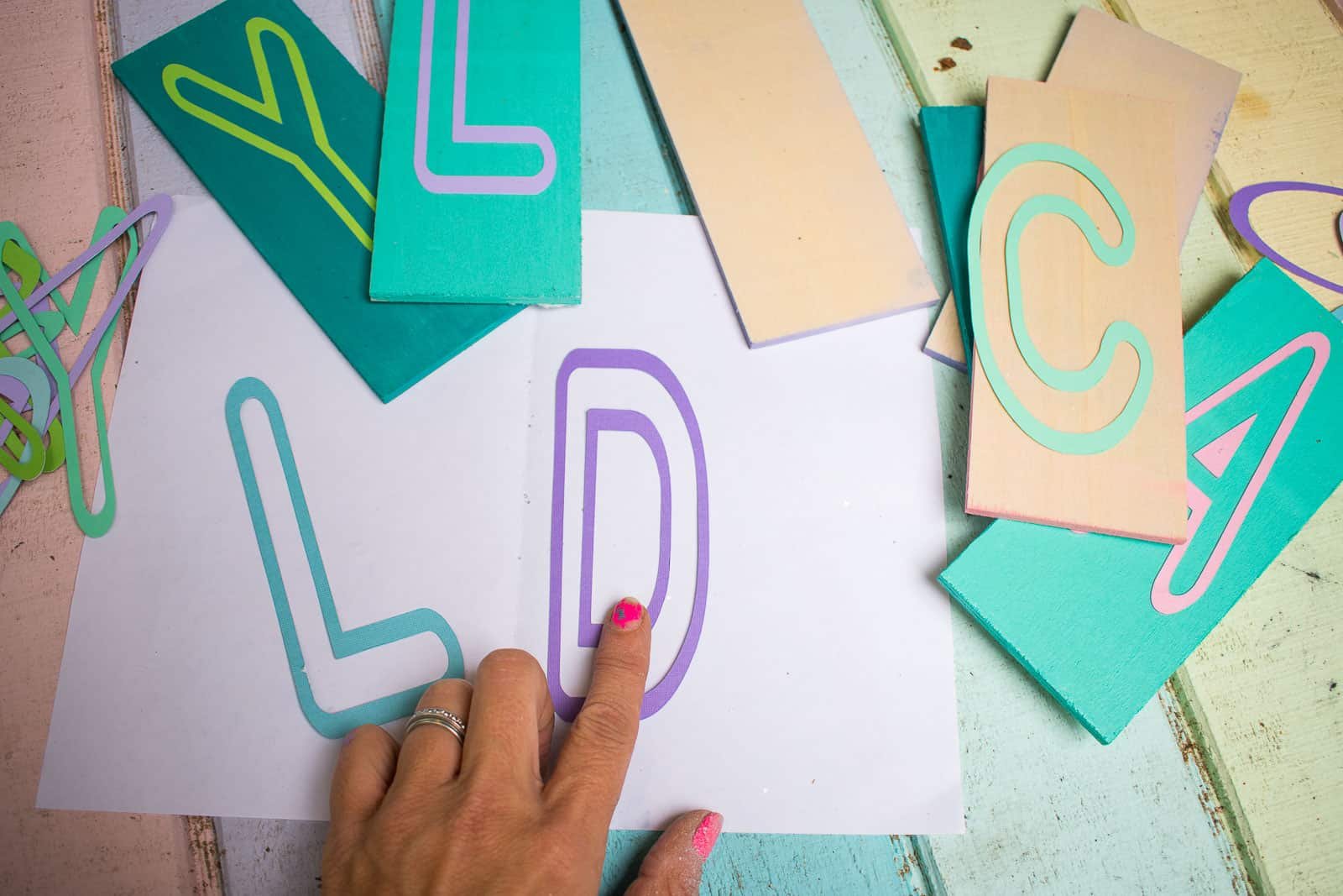 cut letters with cricut out of card stock