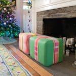 upholstered ottomans for christmas
