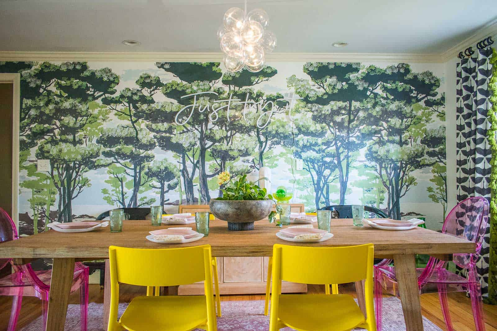 dining room mural wall