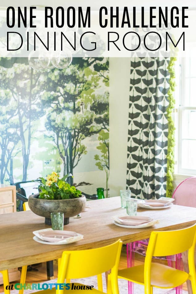 colorful dining room reveal
